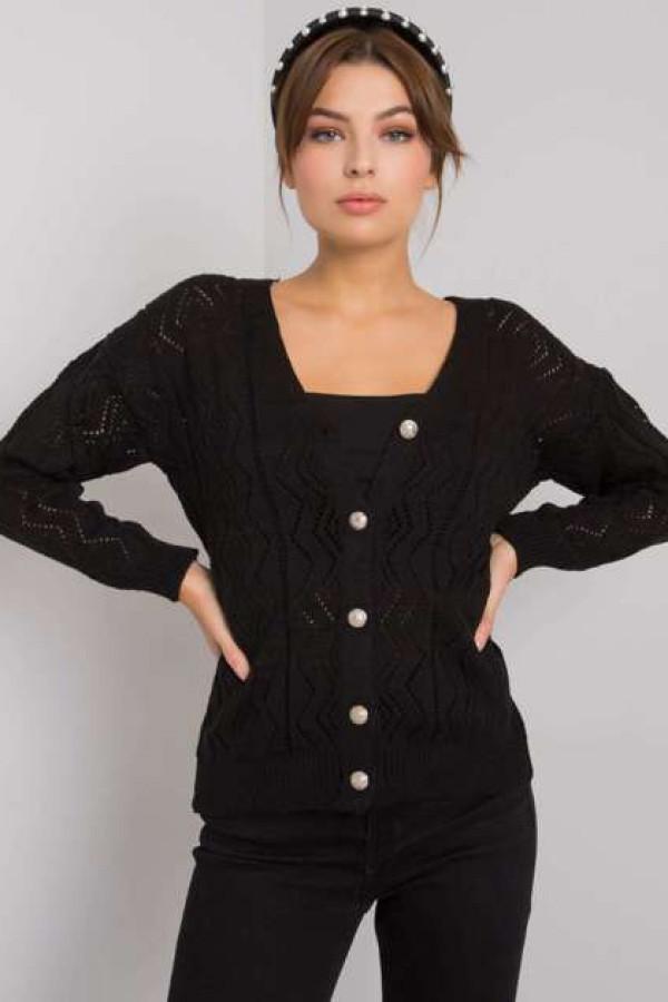 Czarny sweter na guziki Gregoire 1