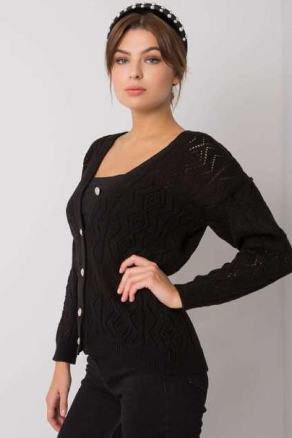Czarny sweter na guziki Gregoire 2