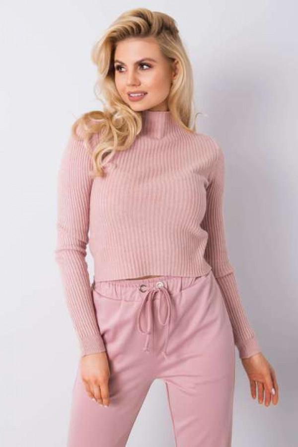 Brudnoróżowy sweter Tess 1