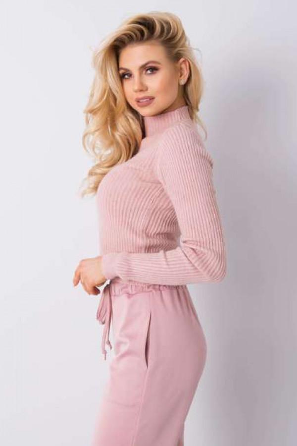 Brudnoróżowy sweter Tess 2