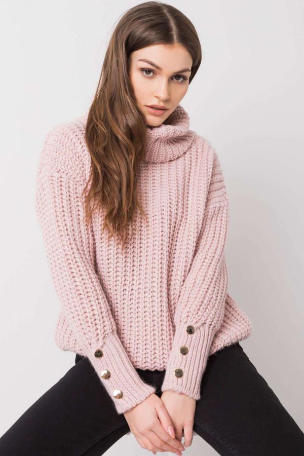 Brudnoróżowy sweter Enid 1