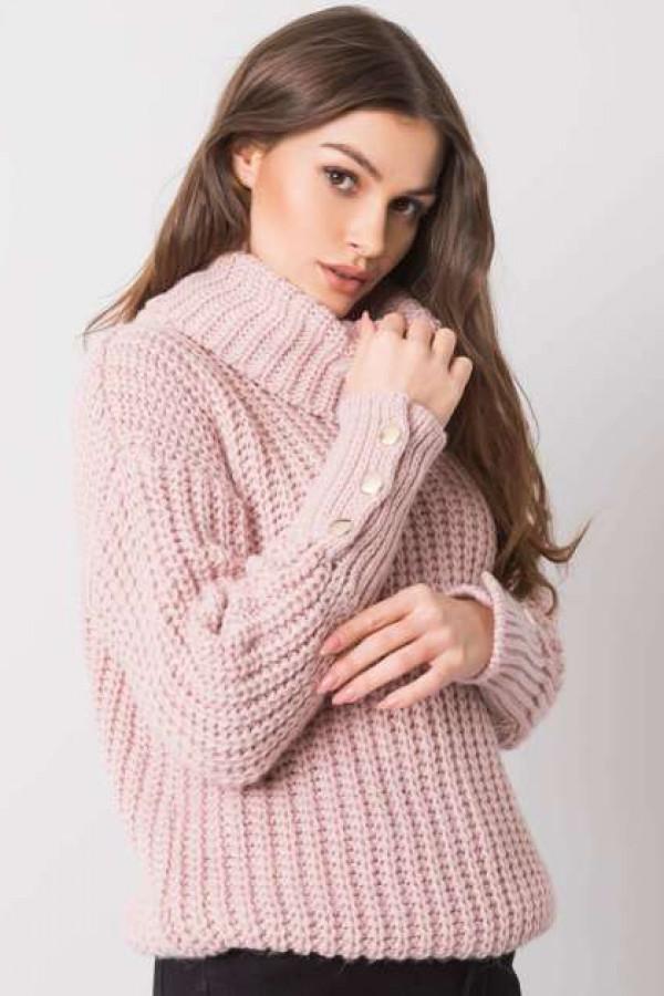 Brudnoróżowy sweter Enid 2