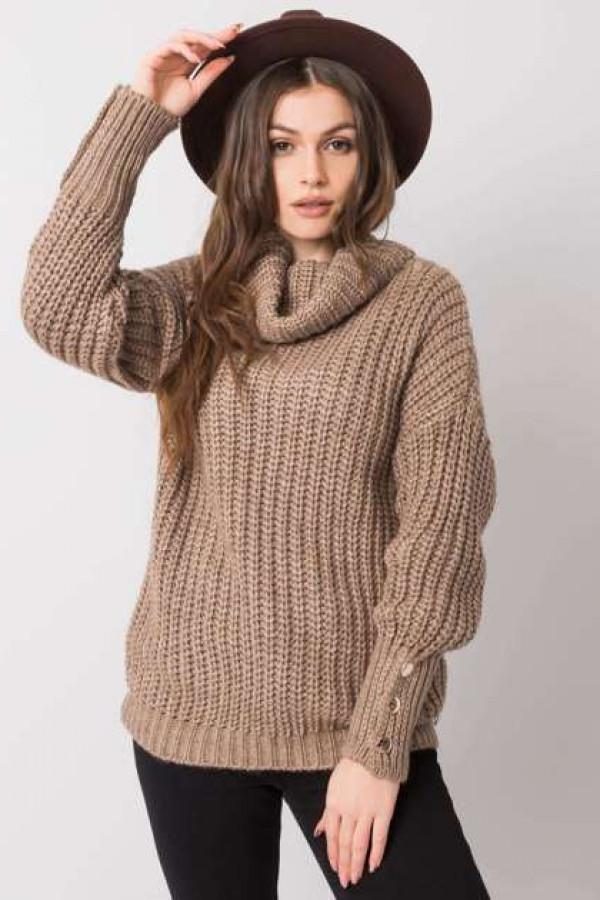 Ciemnobeżowy sweter Enid