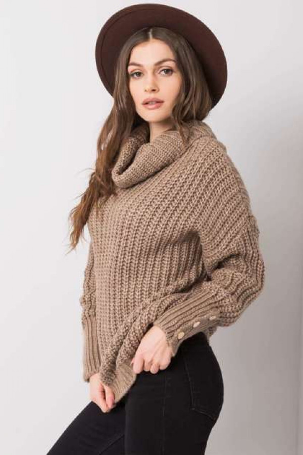 Ciemnobeżowy sweter Enid 1