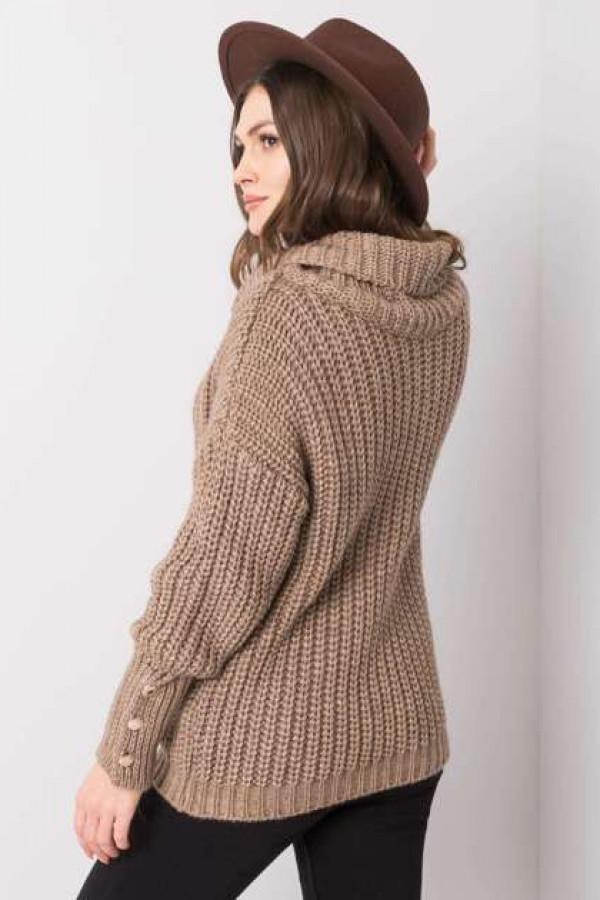 Ciemnobeżowy sweter Enid 2