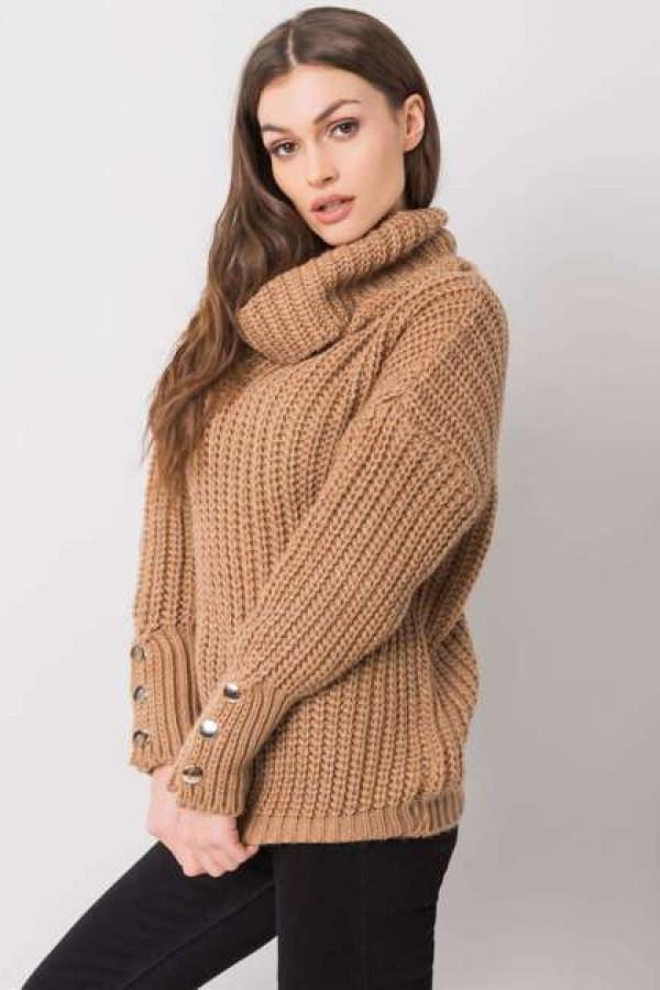 Camelowy sweter Enid