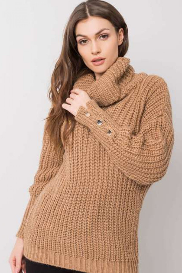 Camelowy sweter Enid 1