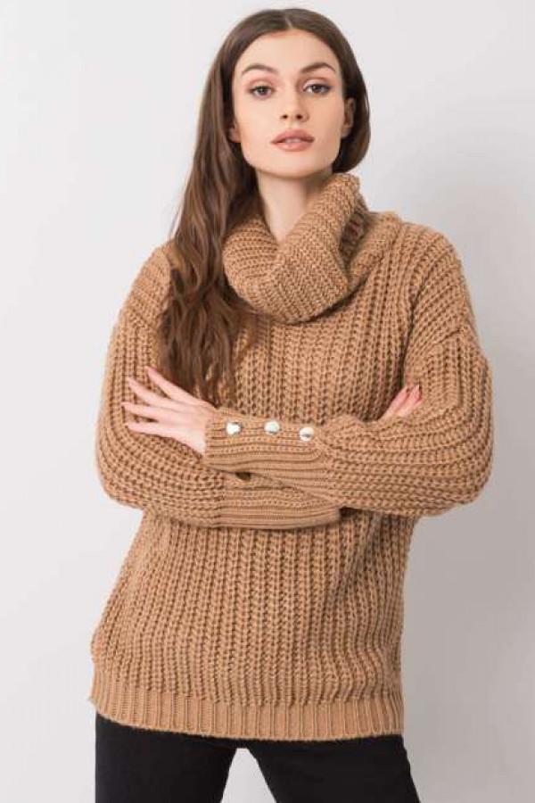 Camelowy sweter Enid 2